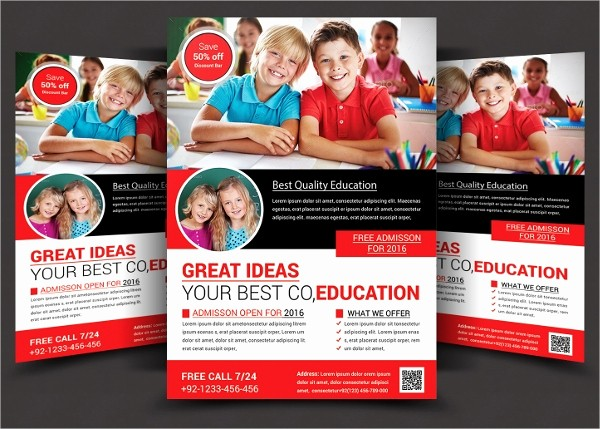 School Brochure Template Free Download New 27 School Flyers Templates Psd Ai Pages Docs