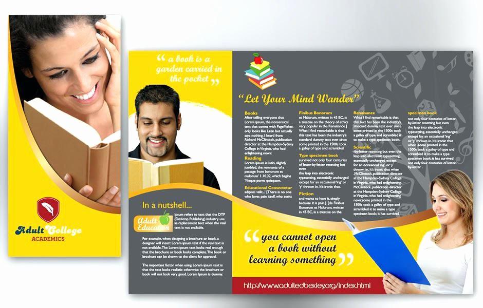 School Brochure Template Free Download New Education Brochure Design Templates Free Download Flyer
