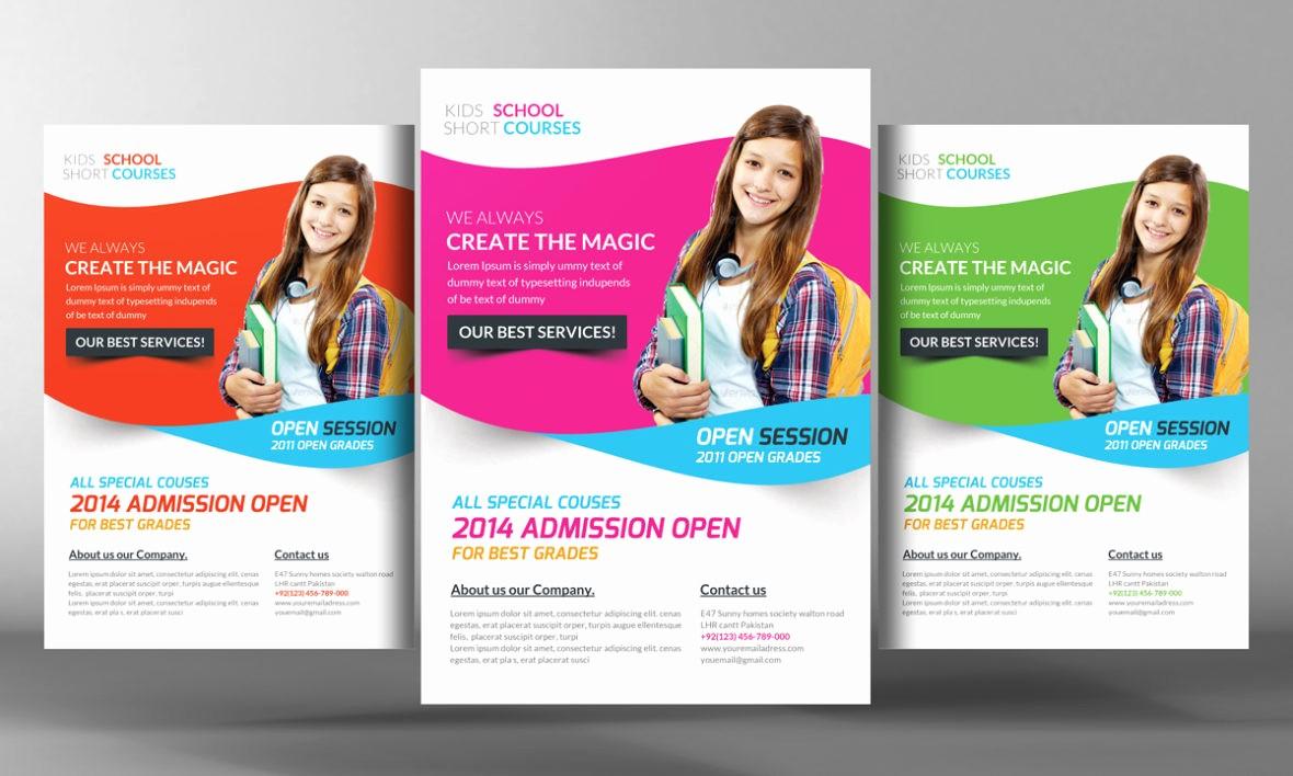 School Brochure Template Free Download Unique Education School Business Flyer Psd Template