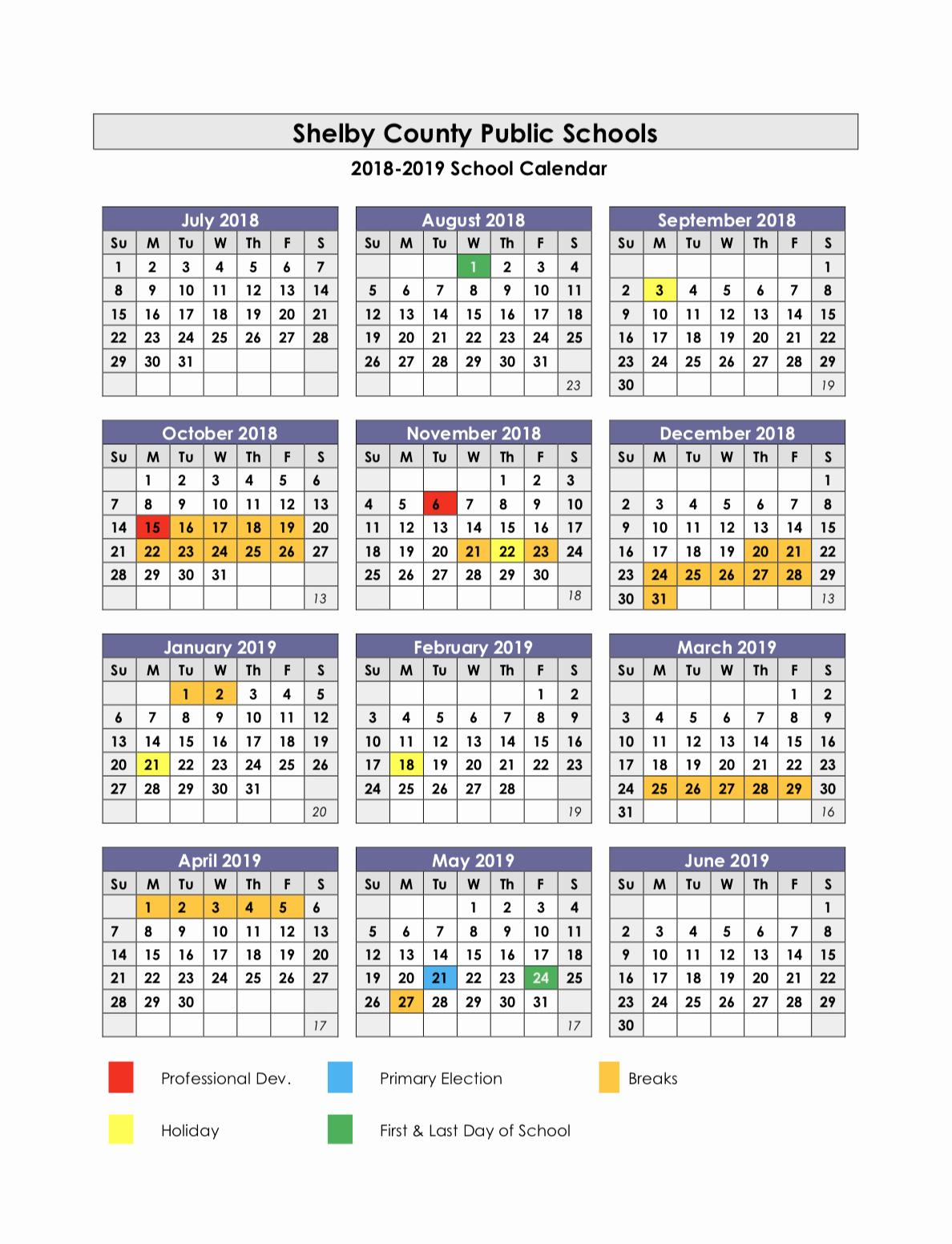 School Calendar 2018 19 Template Awesome Collins High School Calendar