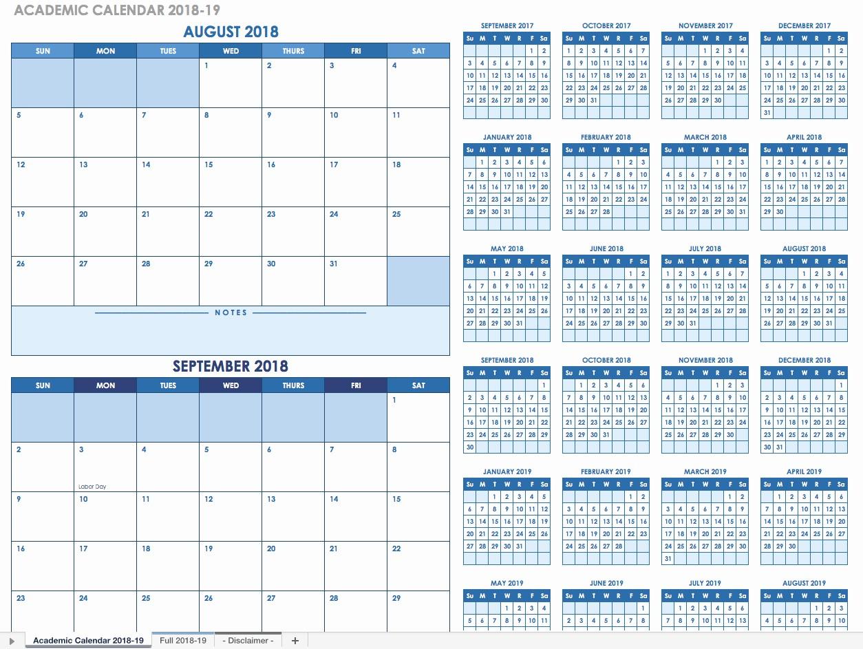 School Calendar 2018 19 Template Awesome Free Blank Calendar Templates Smartsheet