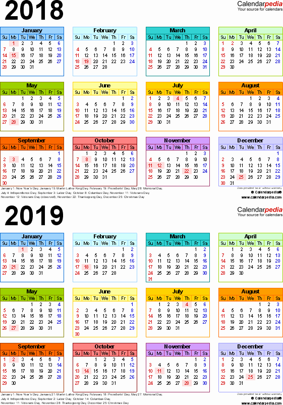 School Calendar 2018 19 Template Best Of 2018 2019 Calendar Free Printable Two Year Word Calendars