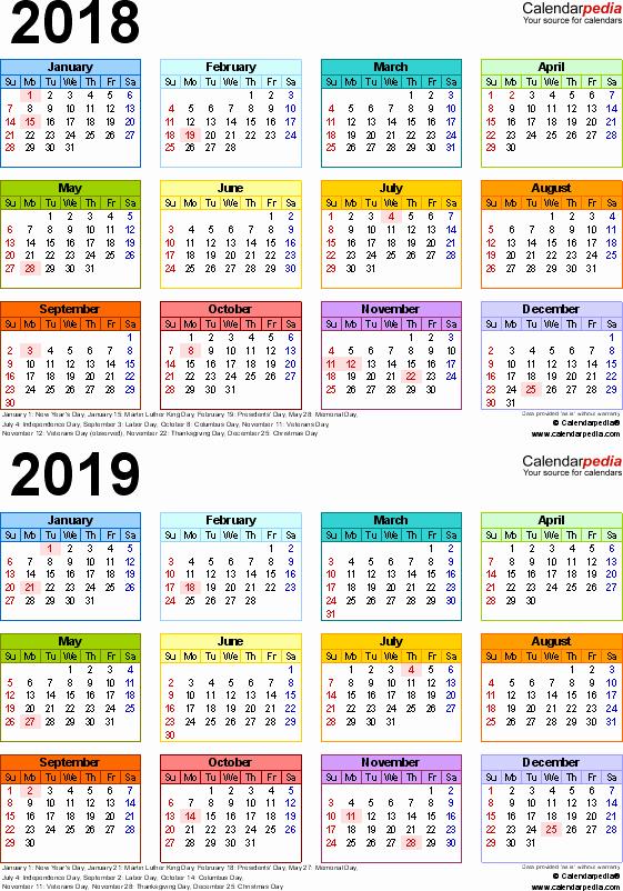 School Calendar 2018 19 Template Best Of 2018 2019 Calendar Free Printable Two Year Word Calendars