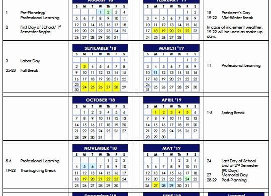 School Calendar 2018 19 Template Elegant Awesome Printable School Year Calendar 2018 19