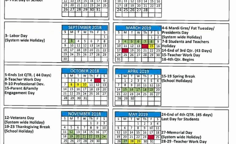 School Calendar 2018 19 Template Fresh 2018 19 School Year Calendar Approved