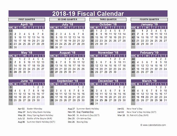 School Calendar 2018 19 Template Fresh Uk Fiscal Calendar Template 2018 19 Free Printable Templates