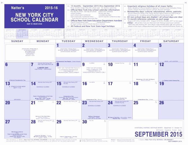 School Calendar 2018 19 Template Lovely 38 Nyc Public School Calendar 2018 19