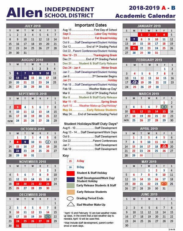 School Calendar 2018 19 Template Lovely Academic School Year Calendar 2018 2019 School Calendars