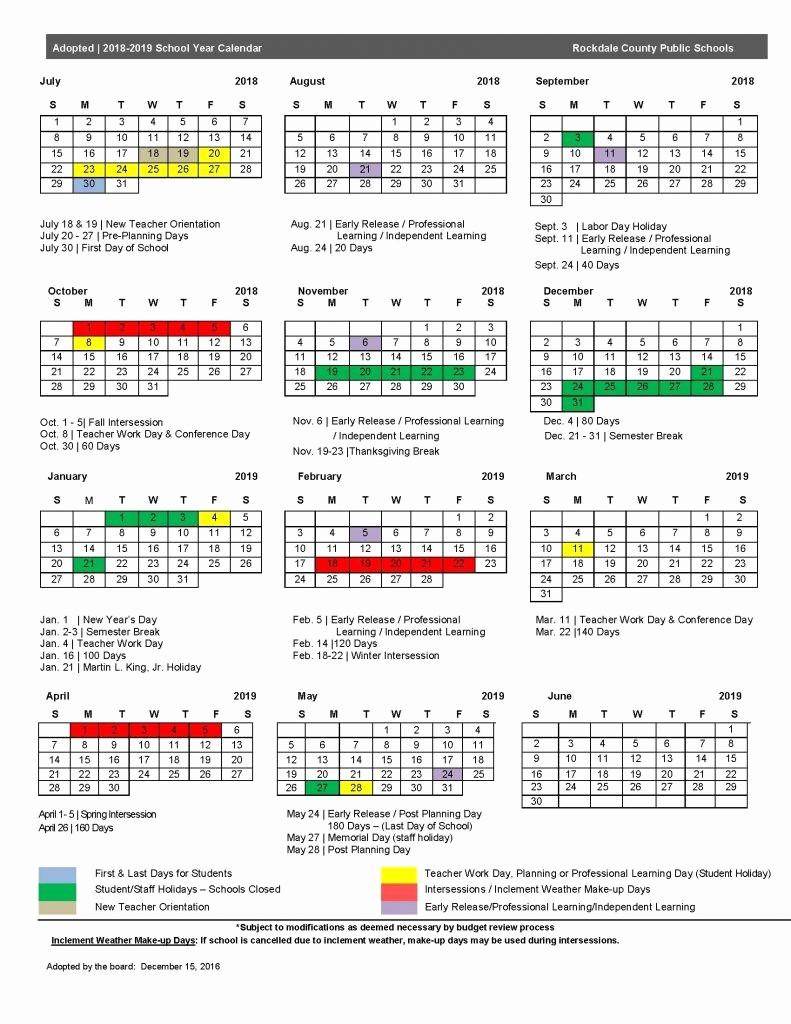 School Calendar 2018 19 Template Luxury Fulton County School Calendar 2018 19 2018 Calendar Template