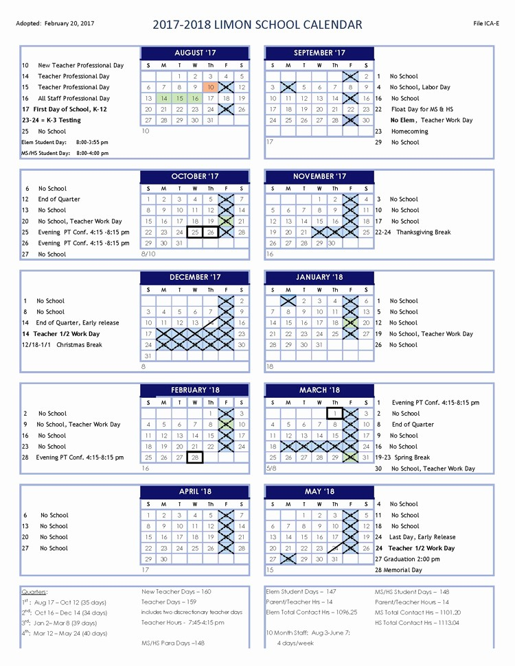 School Calendar 2018 19 Template New Yearly Calendar