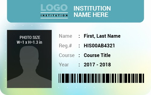 School Id Template Free Download Awesome Student Id Card Templates for Ms Word
