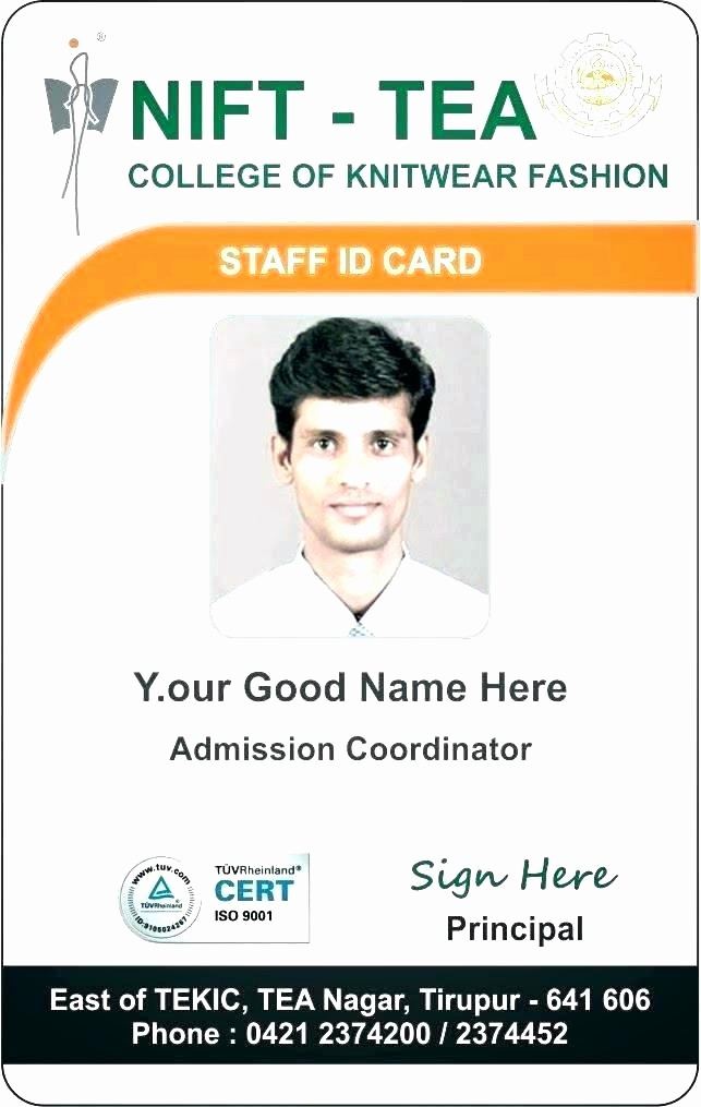 School Id Template Free Download Beautiful Employee Id Card Template for Ms Word Corporate Psd