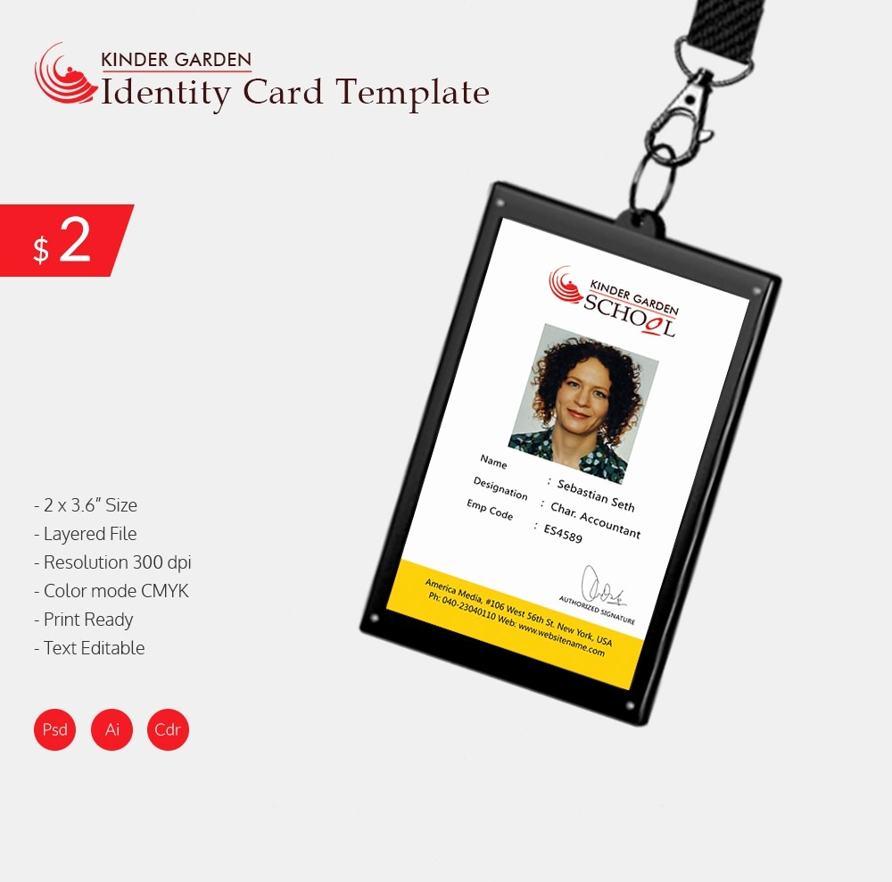 School Id Template Free Download Elegant 18 Id Card Templates – Free Psd Documents Download