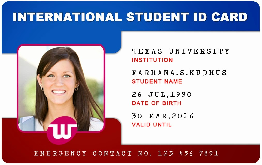 School Id Template Free Download Inspirational Student Id Card Template Free Download Templates Station