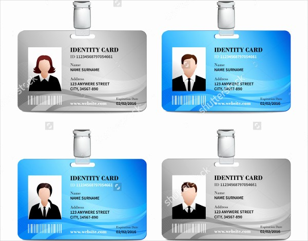 School Id Template Free Download Lovely 32 Id Card Templates Psd Ai Word Pages