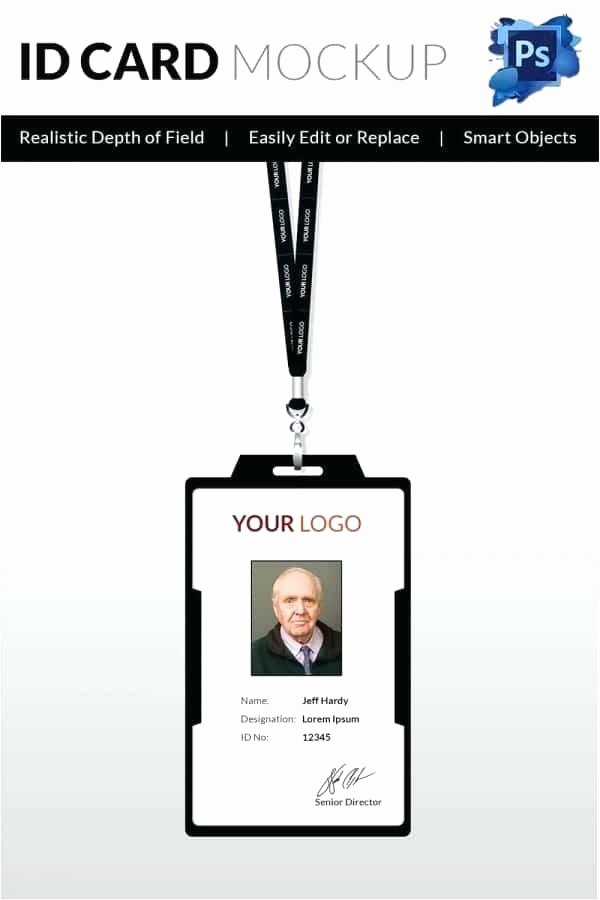 School Id Template Free Download Lovely Student Id Card Template Word Ms Word Id Badge