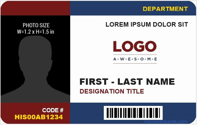 School Id Template Free Download Luxury 8 Best Pany Id Card Templates Ms Word