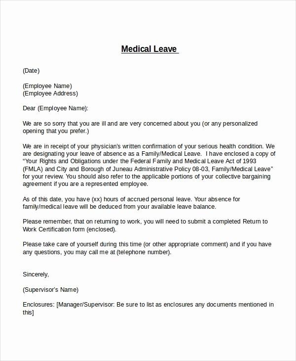School Leave Of Absence Letter Fresh 25 Leave Letter Templates Pdf Doc