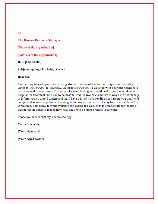 School Leave Of Absence Letter Inspirational Letter Permission to Be Absent From Work