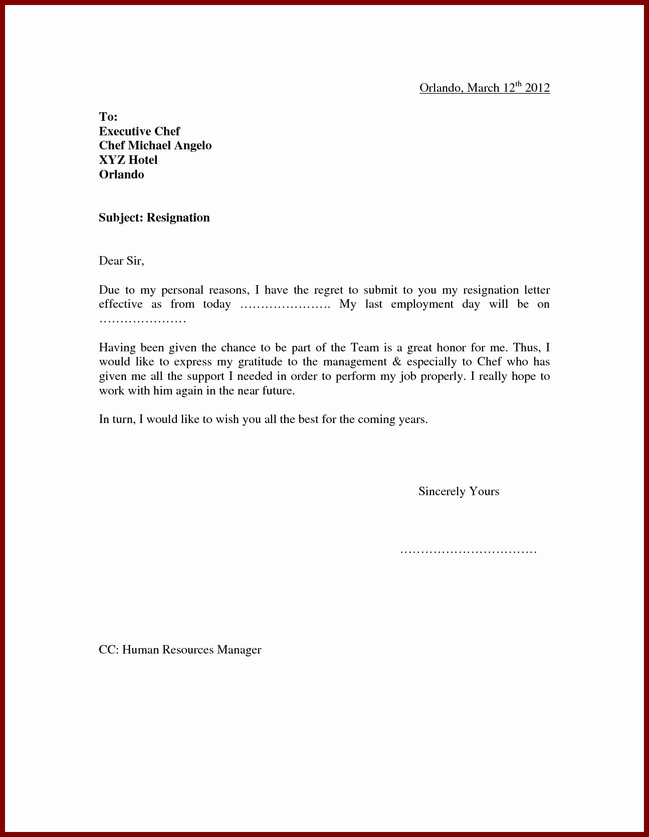 School Leave Of Absence Letter Lovely Leave Absence Letter Sample for Employer to School
