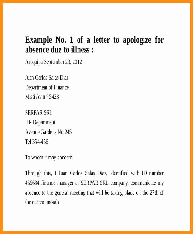 School Note for Being Absent Inspirational 5 6 Excused Absence From School Letter