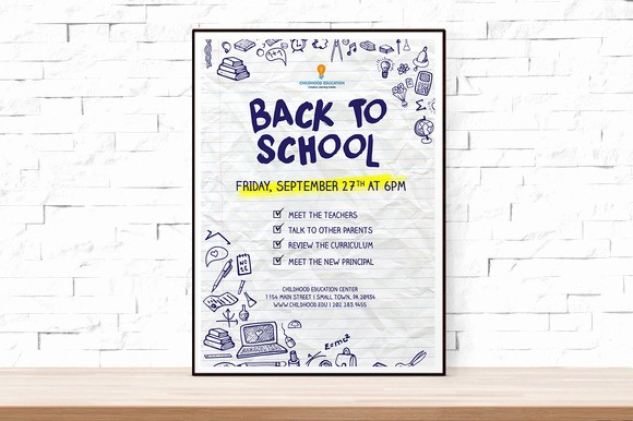School Open House Flyer Template Awesome Back to School event Flyer Template Flyer Templates On