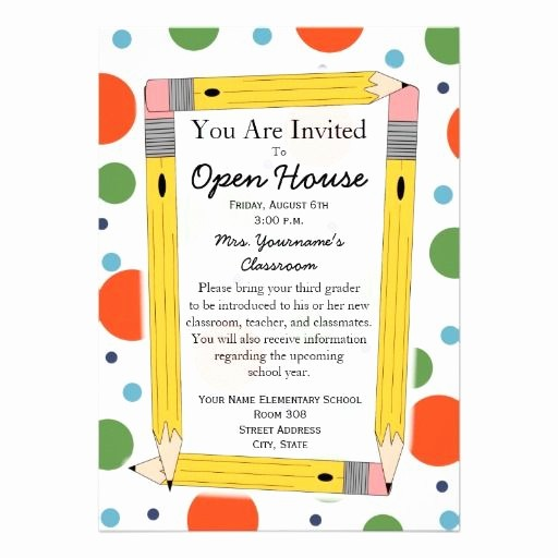 School Open House Flyer Template Best Of 17 Best Ideas About Open House Invitation On Pinterest