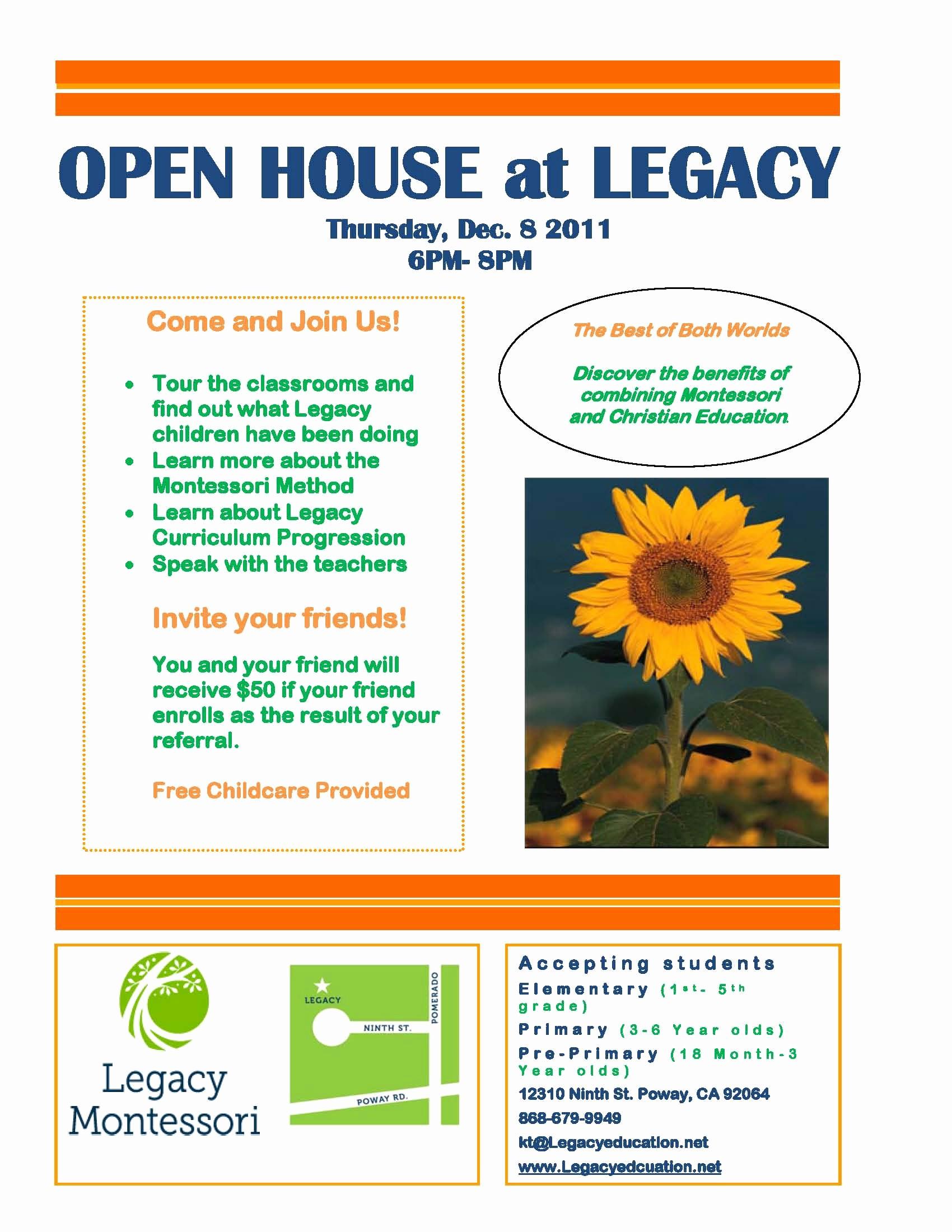 School Open House Flyer Template Fresh 10 Best Of Teacher Open House Brochure Template
