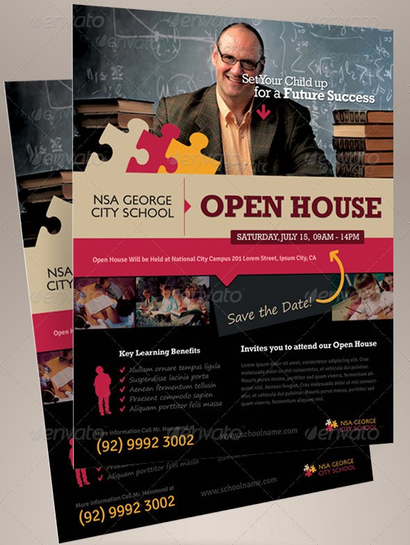 School Open House Flyer Template Fresh Open House Flyer Templates – 39 Free Psd format Download