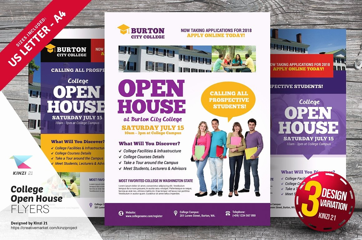 School Open House Flyer Template Fresh School Open House S Graphics Fonts themes Templates