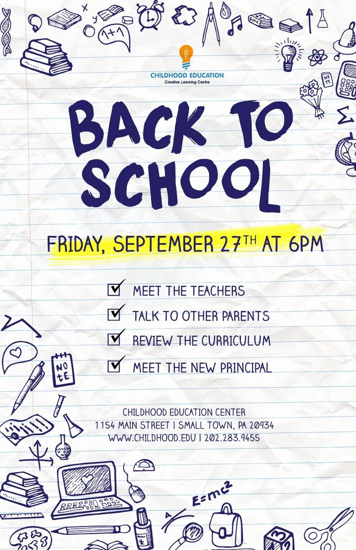 School Open House Flyer Template Inspirational Back to School Flyer Psd Docx