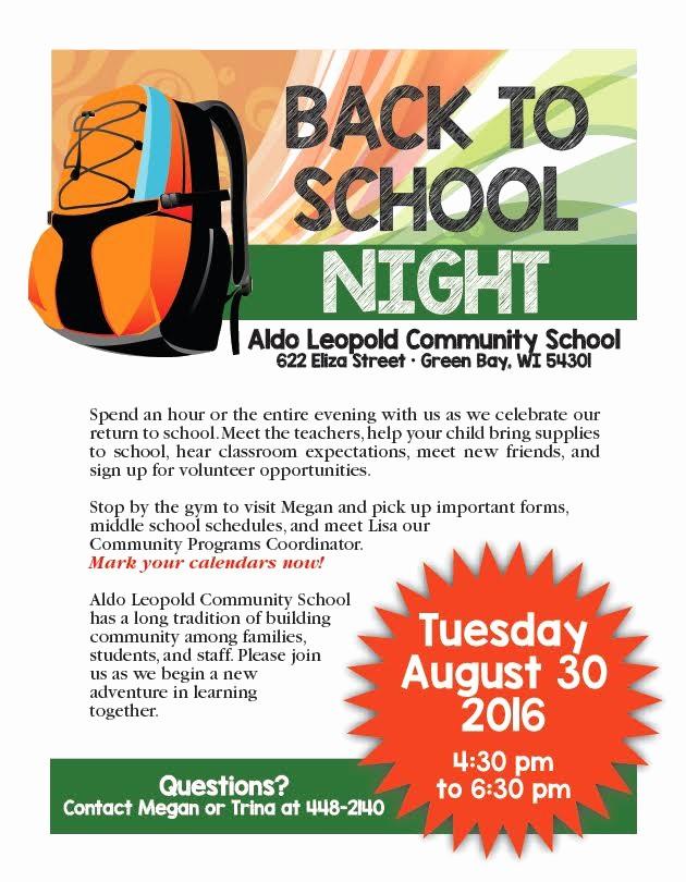 School Open House Flyer Template Lovely Back to School Night Flyer Ktunesound