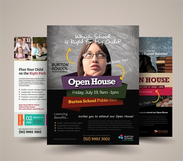 School Open House Flyer Template Luxury 27 School Flyer Template Free Psd Ai Vector Eps
