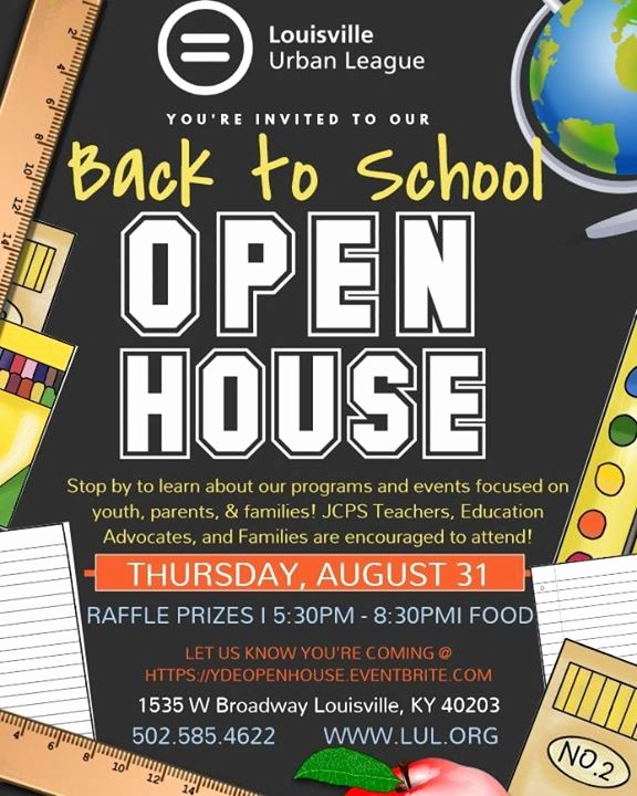School Open House Flyer Template Luxury Back to School Open House at L U L Vision Russell