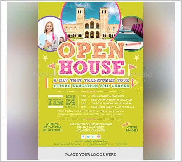 School Open House Flyer Template Luxury School Open House Flyer Template Invitation Templ and