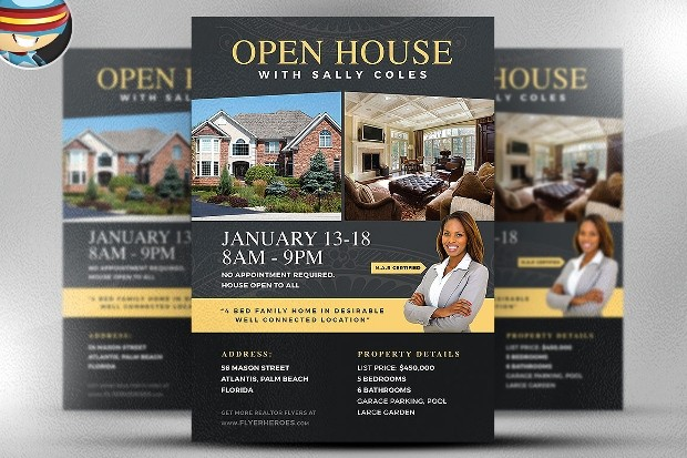 School Open House Flyer Template New 21 Open House Flyer Designs Psd Download