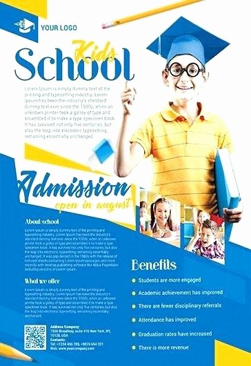 School Open House Flyer Template Unique School Education Flyer Template Captain Poster Templates
