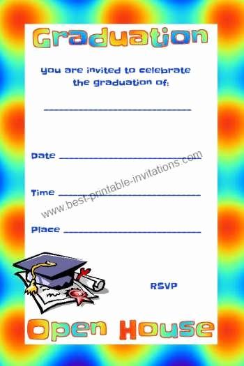 School Open House Invitations Templates Awesome Free Graduation Invitations Open House Invites