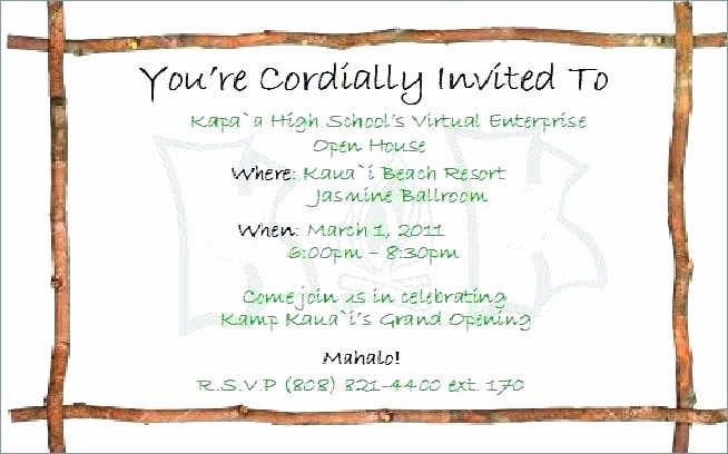 School Open House Invitations Templates Awesome School Open House Invitation Template Preschool High