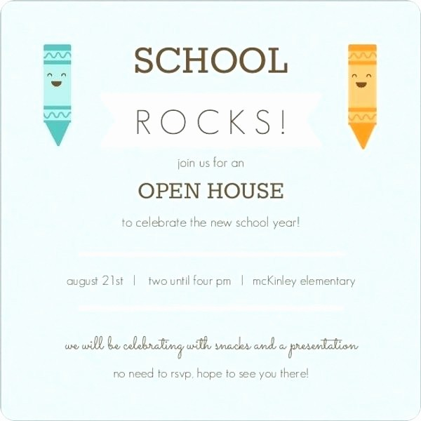 School Open House Invitations Templates Beautiful School Open Cool Se Invitation Template for Resume Free