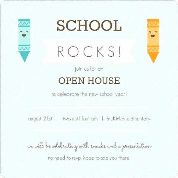School Open House Invitations Templates Beautiful School Open Cool Se Invitation Template for Resume Free