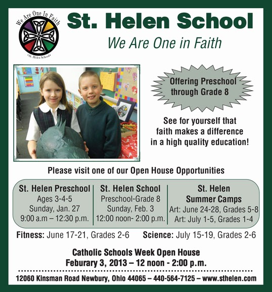 School Open House Invitations Templates Beautiful St Helen School Open House Geauga News