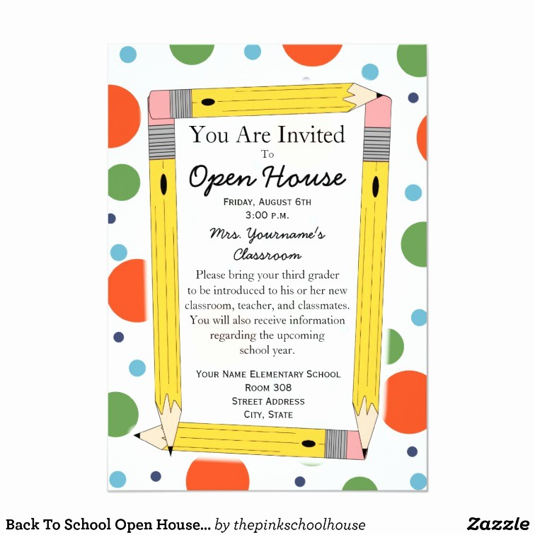 School Open House Invitations Templates Best Of Back to School Open House Invitation