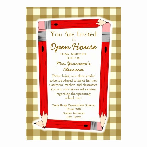 "School Open House Invitations Templates Elegant Back to School Open House Invitation 5"" X 7"" Invitation"