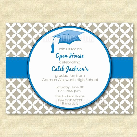 School Open House Invitations Templates Elegant Items Similar to Graduation Invitation Open House