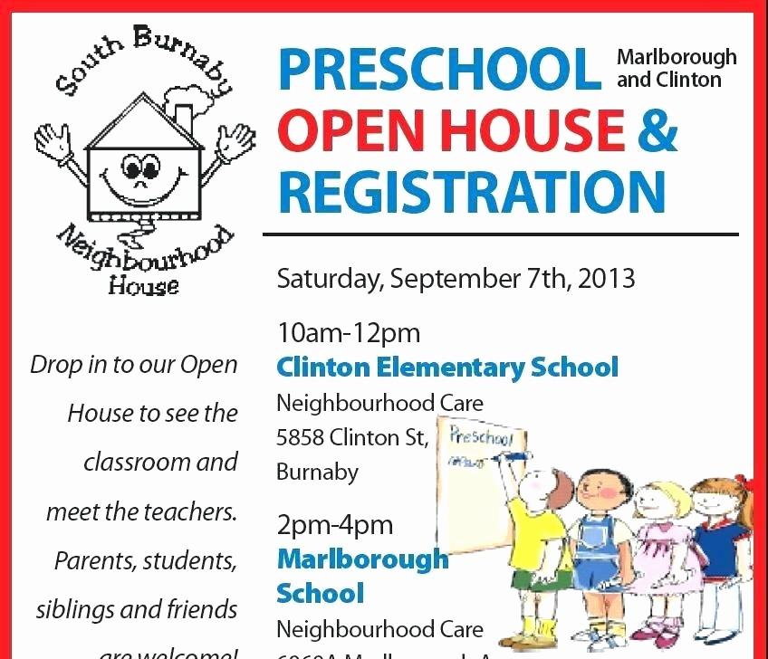 School Open House Invitations Templates Elegant School Open House Invitation Template Preschool High