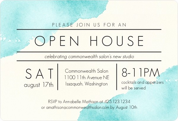 School Open House Invitations Templates Fresh Modern Watercolor Corporate Open House Invitation