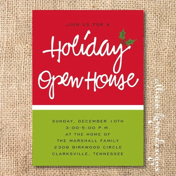 School Open House Invitations Templates Inspirational Items Similar to Holiday Open House Printable Invitation