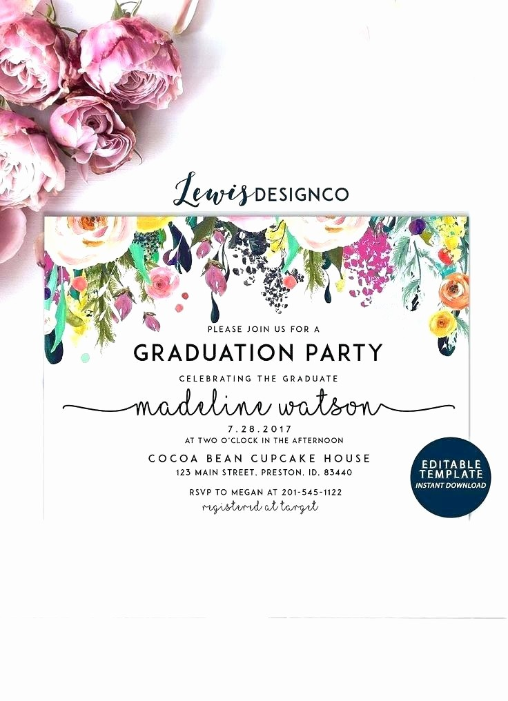 School Open House Invitations Templates Inspirational Modern Graduation Open House Invitation Cards Open House