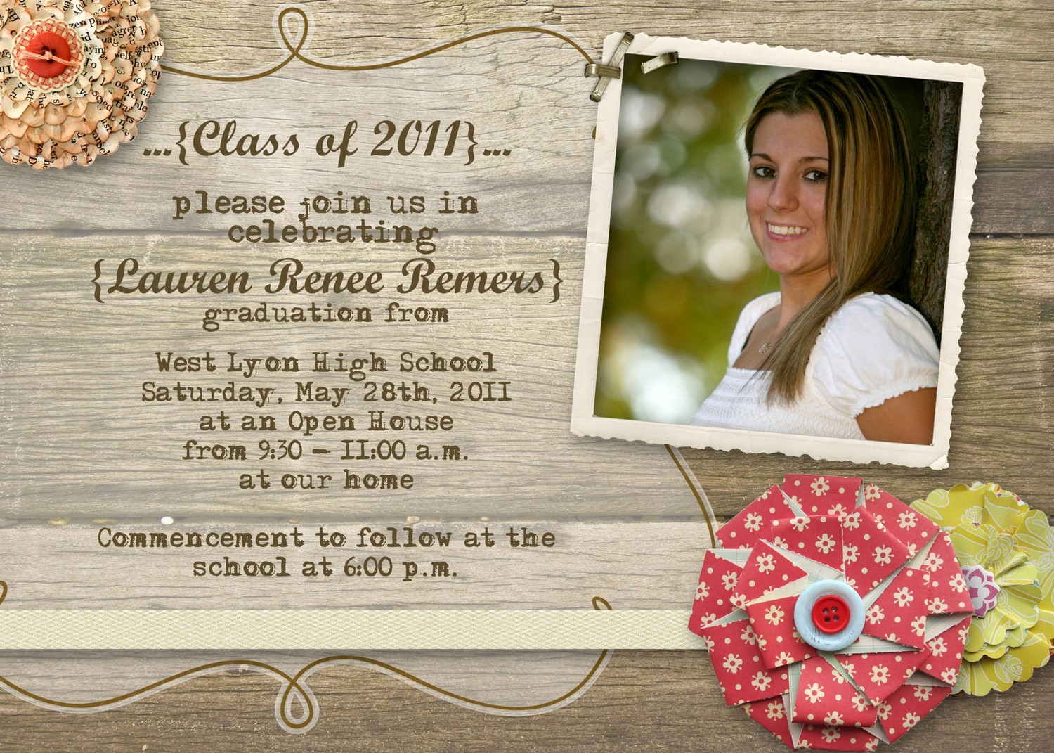 School Open House Invitations Templates Lovely Graduation Open House Invitations